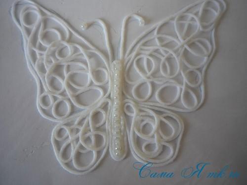 ажурная бабочка из ниток и пряжи  18