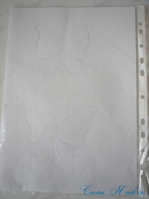 ажурная бабочка из ниток и пряжи  3