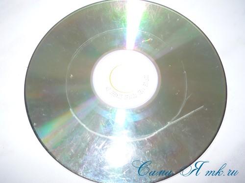 подхваты держатели для штор из CD дисков и шпагата 2