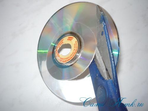 подхваты держатели для штор из CD дисков и шпагата 4