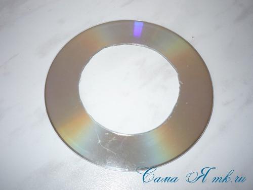подхваты держатели для штор из CD дисков и шпагата 5