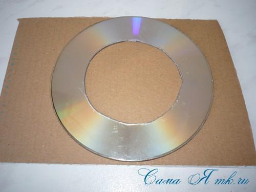 подхваты держатели для штор из CD дисков и шпагата 6