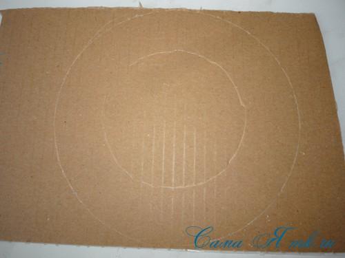 подхваты держатели для штор из CD дисков и шпагата 7