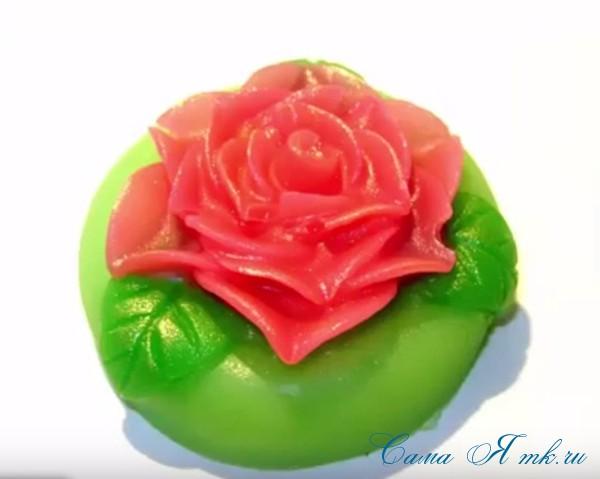 мыло с розой