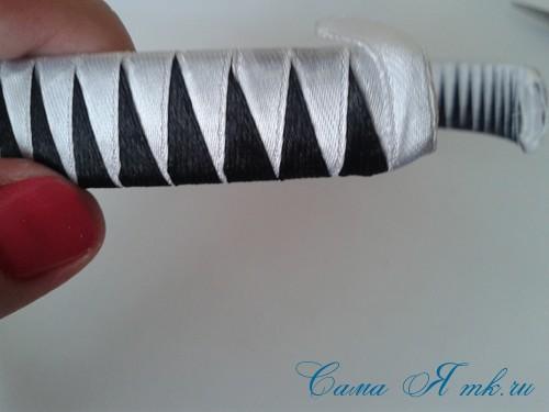 плетение зубчиками завершаем 1