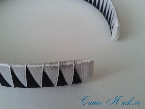 плетение зубчиками завершаем 2