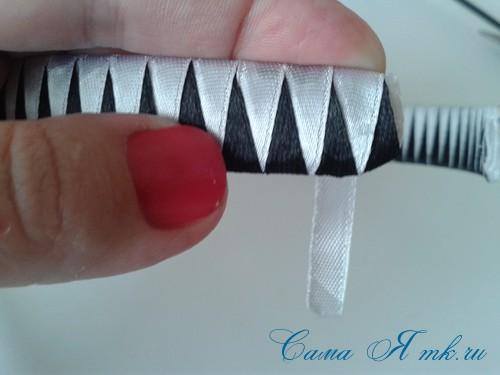 плетение зубчиками завершаем