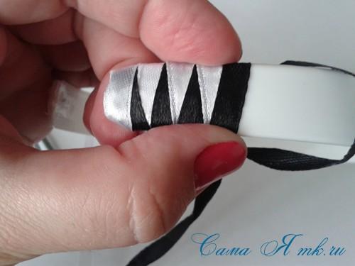 плетение зубчиками 15