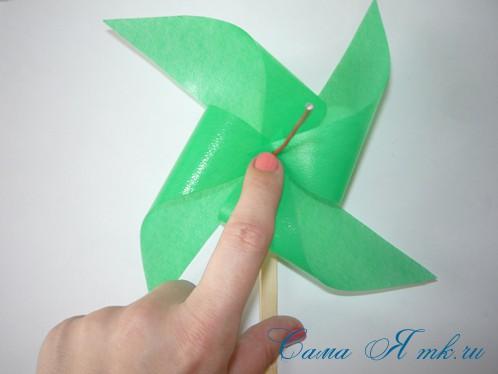 4-х лопастной детский ветерок-вертушка 10