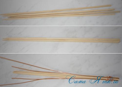 топиарий с торцовками из мешковины и шпагата для бани 2