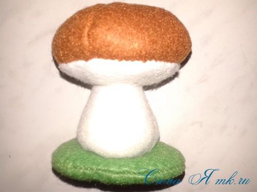 гриб игольница из фетра как сшить выкройка 16