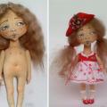как сформировать тело текстильной интерьерной авторской куклы 17