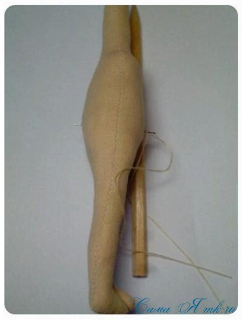 как сформировать тело текстильной интерьерной авторской куклы 4