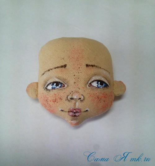 как нарисовать лицо текстильной кукле 4