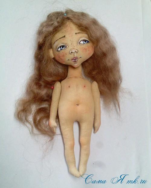 как нарисовать лицо текстильной кукле 5