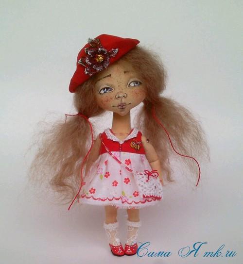как нарисовать лицо текстильной кукле 6