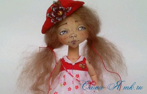 Нарисовать лицо кукле из ткани пошагово 77