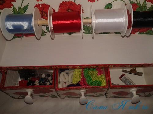 полочка для хранения лент и мелочей своими руками 28 (Copy)