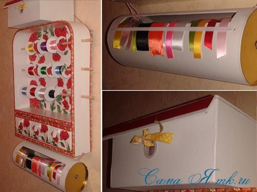 полочка для хранения лент и мелочей своими руками 30 (Copy)