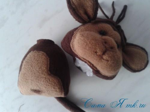 мягкая игрушка обезьяна сшить из флиса выкройка и описание 31