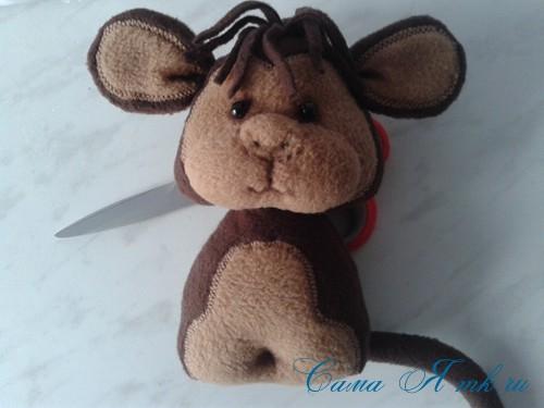 мягкая игрушка обезьяна сшить из флиса выкройка и описание 32