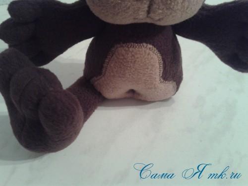 мягкая игрушка обезьяна сшить из флиса выкройка и описание 49