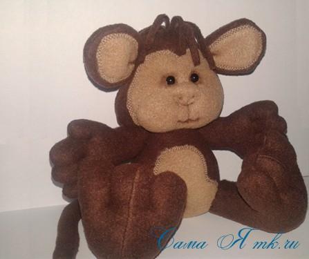 мягкая игрушка обезьяна сшить из флиса выкройка и описание 50