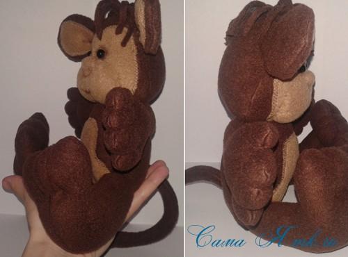 мягкая игрушка обезьяна сшить из флиса выкройка и описание 51