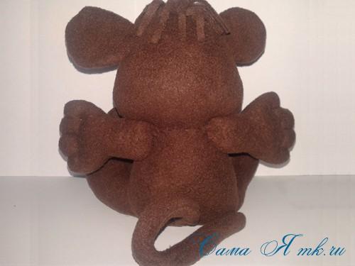 мягкая игрушка обезьяна сшить из флиса выкройка и описание 52