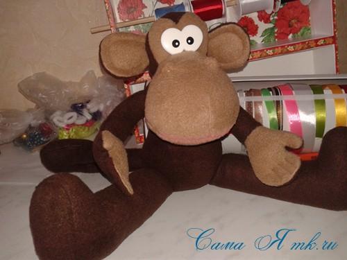 мягкая игрушка обезьяна сшить из флиса выкройка и описание 55