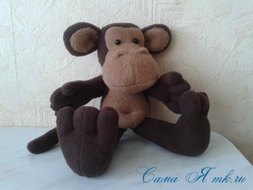 мягкая игрушка обезьяна сшить из флиса выкройка и описание 57