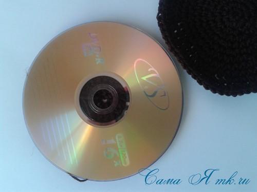 подставка обезьянка из  CD сд диска крючком описание и схема 15 (Copy)