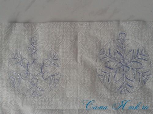 снежинки новогодние украшения из горячего клея с помощью клеевого пистолета 7 (Copy)