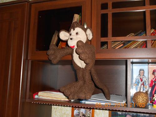 обезьянка своими руками из флиса 2