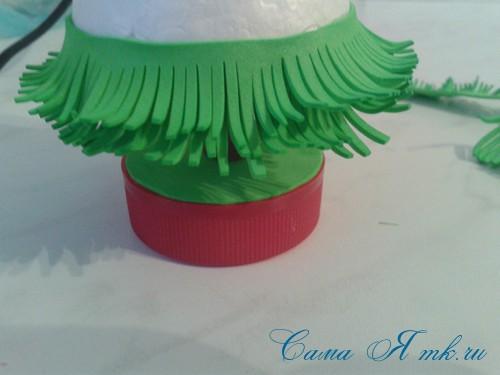 маленькая ёлочка из фоамирана фома своими руками 16 (Copy)