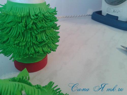 маленькая ёлочка из фоамирана фома своими руками 19 (Copy)
