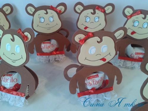 обезьянка из фоамирана с конфеткой 11 (Copy)