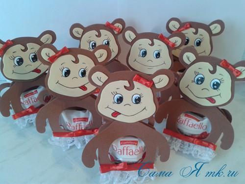 обезьянка из фоамирана с конфеткой 16 (Copy)