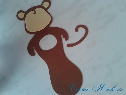 обезьянка из фоамирана с конфеткой 5 (Copy)
