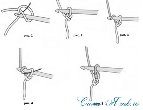 цепочка воздушных петель крючком (Copy)