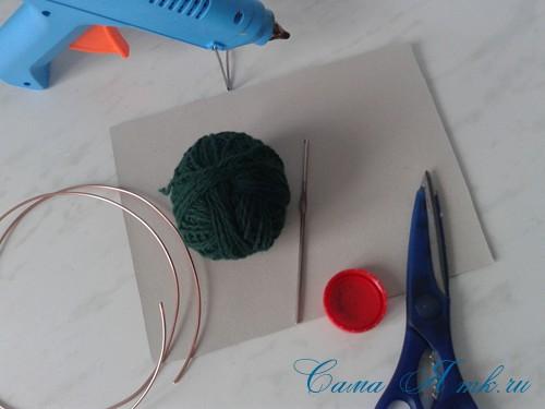ёлочка из пряжи из воздушных петель крючком 1 (Copy)