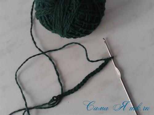 ёлочка из пряжи из воздушных петель крючком 8 (Copy)