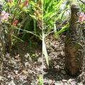 бутылка от шампанского в технике пейп-арт 9