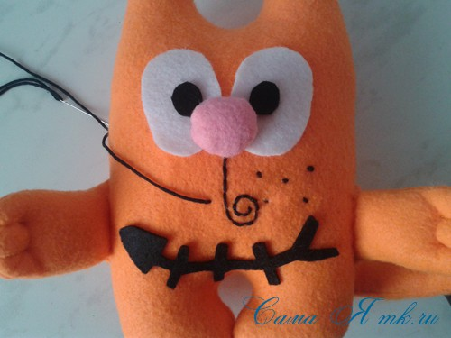 кот амур из фетра или флиса своими руками выкройка мастер-класс и описание 29