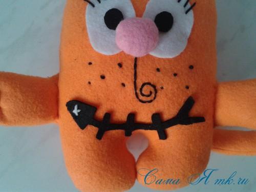 кот амур из фетра или флиса своими руками выкройка мастер-класс и описание 32