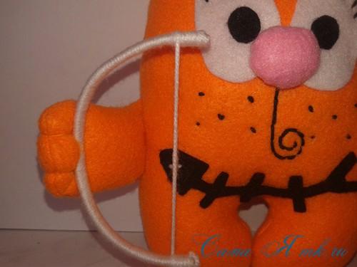 кот амур из фетра или флиса своими руками выкройка мастер-класс и описание 35