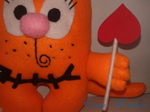 кот амур из фетра или флиса своими руками выкройка мастер-класс и описание 36
