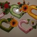 сердечки магниты к 14 февраля дню влюбленных из картона и лент своими руками 17