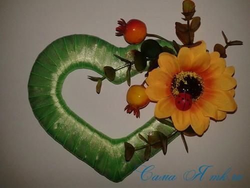 сердечки магниты к 14 февраля дню влюбленных из картона и лент своими руками 19