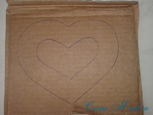 сердечки магниты к 14 февраля дню влюбленных из картона и лент своими руками 2